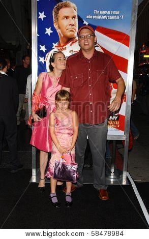 HOLLYWOOD - JULY 26: Adam McKay and family at the Premiere Of