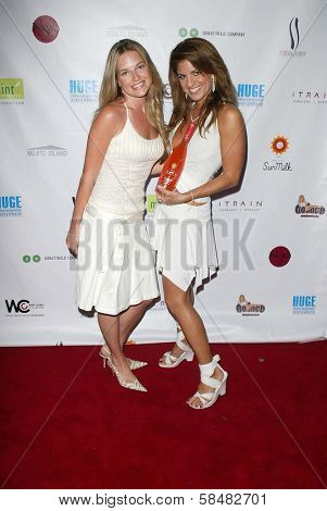 SANTA MONICA - JULY 23: Katie Whicker, Bridgetta Tomarchio at the Sexy Summer Soire Party hosted by H.U.G.E benefiting Heal The Bay at AKWA Restaurant and Club on July 23, 2006 in Santa Monica, CA.