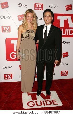 HOLLYWOOD - AUGUST 27: Kelly Limp and Scott Wolf at the TV Guide Emmy After Party August 27, 2006 in Social, Hollywood, CA.