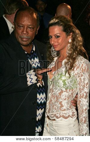 HOLLYWOOD - AUGUST 27: Quincy Jones and Heba at the TV Guide Emmy After Party August 27, 2006 in Social, Hollywood, CA.