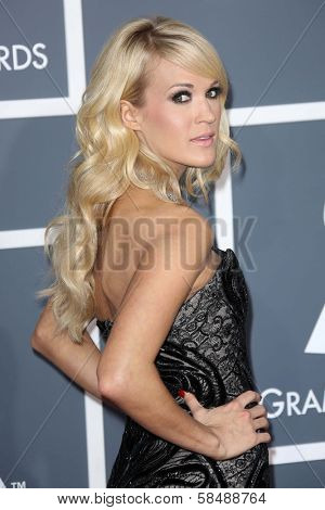 Carrie Underwood at the 55th Annual GRAMMY Awards, Staples Center, Los Angeles, CA 02-10-13