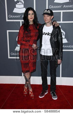 Kat Von D, Deadmau5 at the 55th Annual GRAMMY Awards, Staples Center, Los Angeles, CA 02-10-13