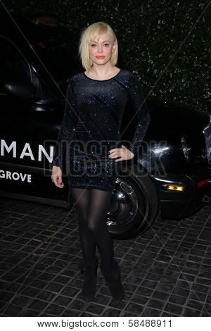 Rose McGowan at the Topshop Topman LA Opening Party, Cecconis, West Hollywood, CA 02-13-13
