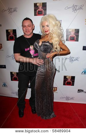Doug Hutchison, Courtney Stodden at the World Premiere party for Courtney Stodden's