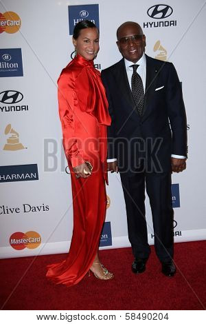 L.A Reid, Erica Reid at the 2013 Clive Davis And Recording Academy Pre-Grammy Gala, Beverly Hilton Hotel, Beverly Hills, CA 02-09-13