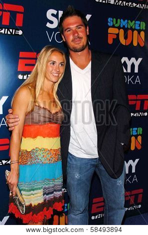HOLLYWOOD - JULY 11: AJ Feeley and Heather Mitts at ESPN The Magazine's