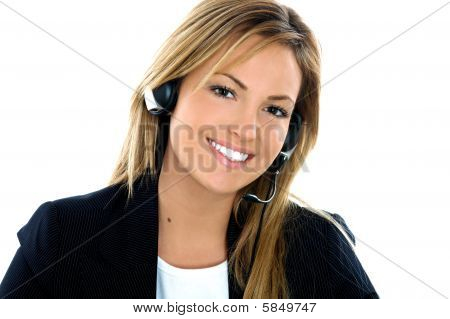 Young Brunette Assistant