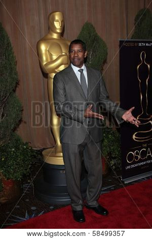 Denzel Washington at the 85th Academy Awards Nominations Luncheon, Beverly Hilton, Beverly Hills, CA 02-04-13