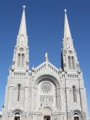Shrine and Cathedral at Ste Anne de Beaupre in Quebec, Canada poster