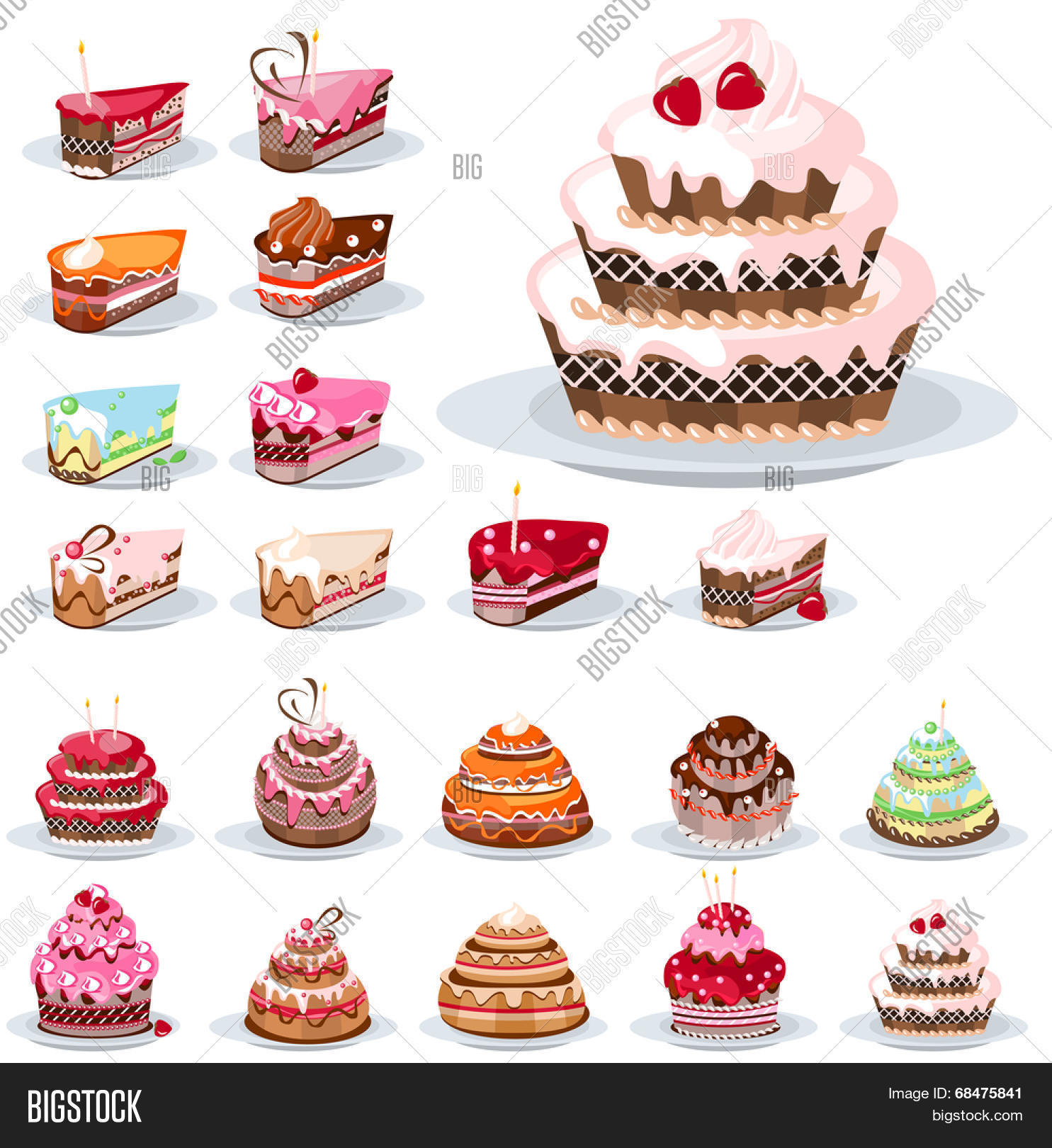 Magnificent Set Different Vector Photo Free Trial Bigstock Funny Birthday Cards Online Alyptdamsfinfo