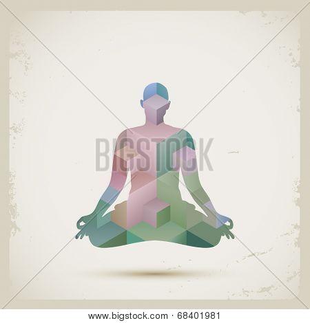 Meditation, eps10 vector