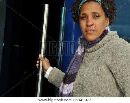 professionelle Afroamerikanerfrau