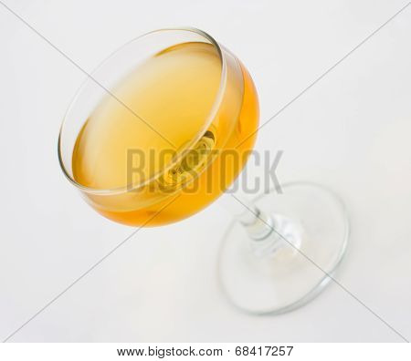 Corpse Reviver cocktail, consisting of brandy, calvados and sweet vermouth poster