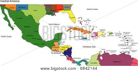 Central America to USA, Countries and Names