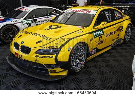 VOLOKOLAMSK, MOSKOW REGION - JULY 13, 2014: DTM (Deutsche Tourenwagen Masters) Moscow Raceway. BMW racing car