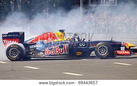 Driver Daniel Ricciardo Of Red Bull Racing Team