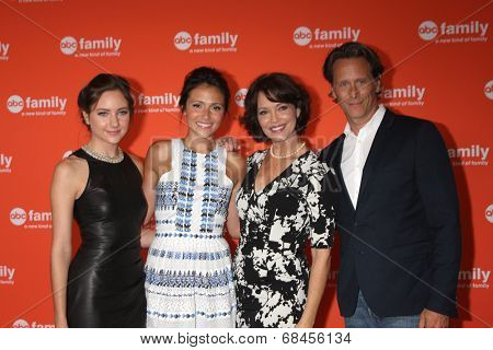 LOS ANGELES - JUL 15:  Haley Ramm, Italia Ricci, Mary Page Keller, Steven Weber at the ABC July 2014 TCA at Beverly Hilton on July 15, 2014 in Beverly Hills, CA