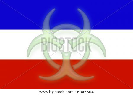 Flag Of Serbia And Montenegro Health Warning