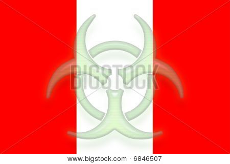 Flag Of Peru Health Warning