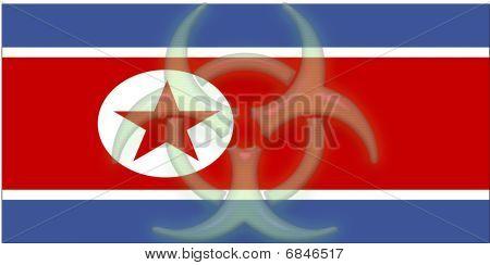 Flag Of North Korea Health Warning