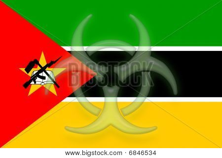 Flag Of Mozambique Health Warning