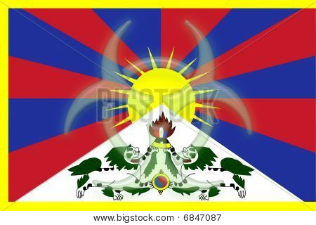 Tibet Flag Health Warning