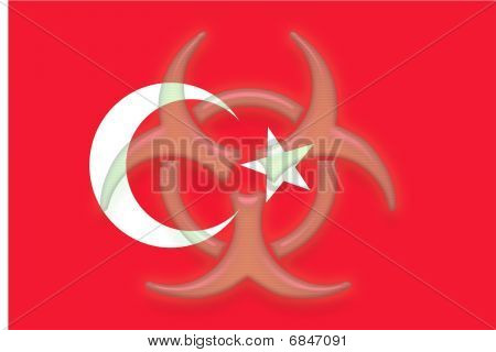 Flag Of Turkey Health Warning