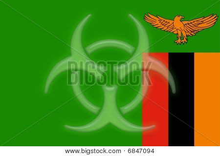 Flag Of Zambia Health Warning