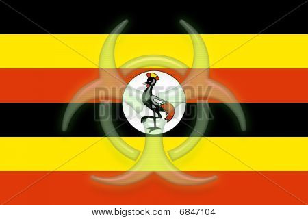 Flag Of Uganda Health Warning