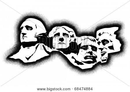Mount Rushmore Memorial.