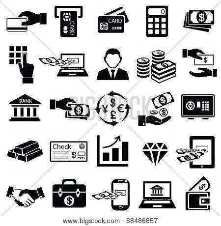Finance Money Icon Set,