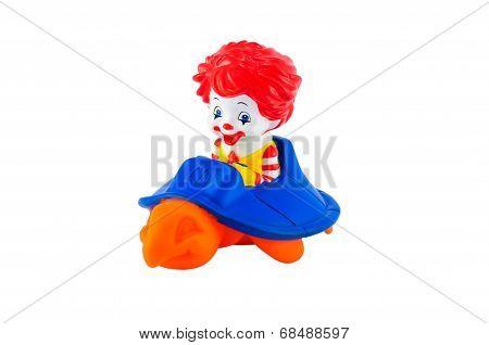 Toddler Ronalds Riding An Orange Turtle
