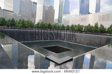 Waterfall in September 11 Memorial Park