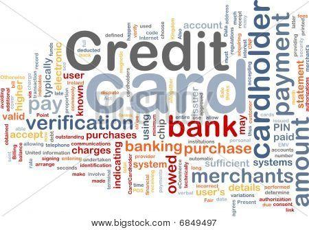 Karta kredytowa słowo Cloud