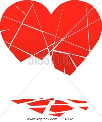 Rota San Valentín corazón se cae a pedazos
