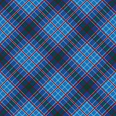 Abstract Pattern with Plaid Fabric on a dark blue background. Seamless vector illustration. poster