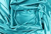 Background of blue fabric and rectangle. Whole background. poster