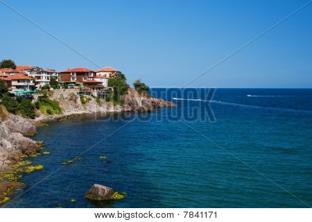 Summer beach on Bulgarian Black sea