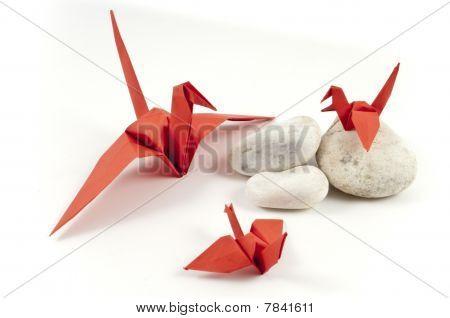 Red Origami Crane