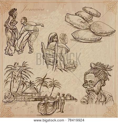 Jamaica Travel - An Hand Drawn Vector Pack