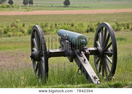 Civil War Cannon At Gettysburg
