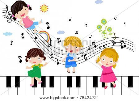 Four children and music