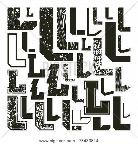 Set Versions Of Letters L