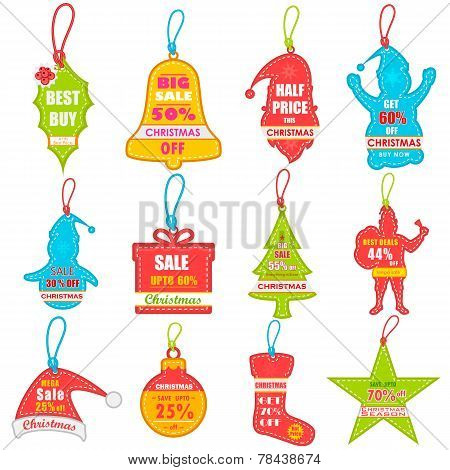 vector illustration of Christmas sale and promotion tag and dangler poster