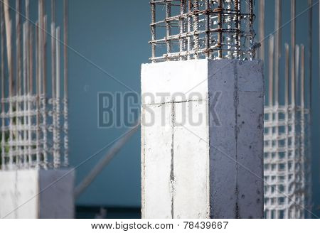 Cloesup Of Cement Prop In Building Construct Site