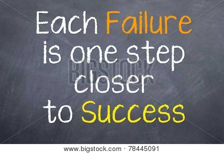 Each Failure is one Step Closer