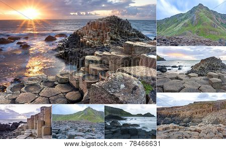 Giants Causeway Collage