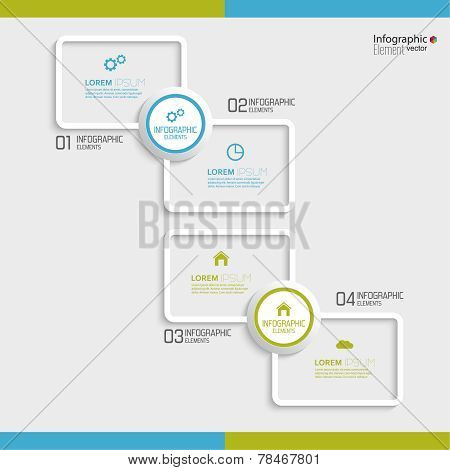 Comparative chart with templates for presentation, informative forms. Option. poster