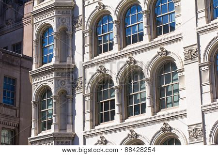 Sunshiny Windows Of Old Architectural Buldings