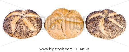 Three Breadrolls